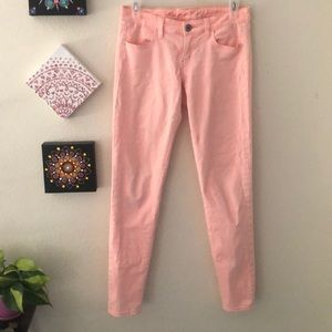 American Eagle pink stretch skinny jeans!